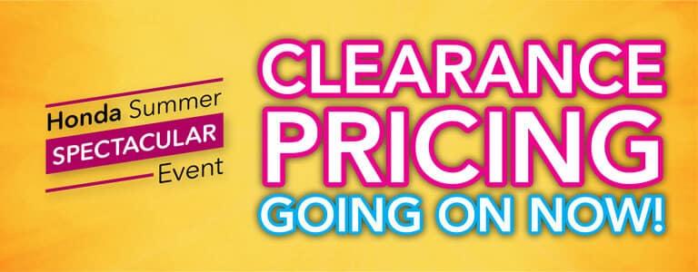 2019 Honda Summer Spectacular Event Clearance Pricing Mobile Slide