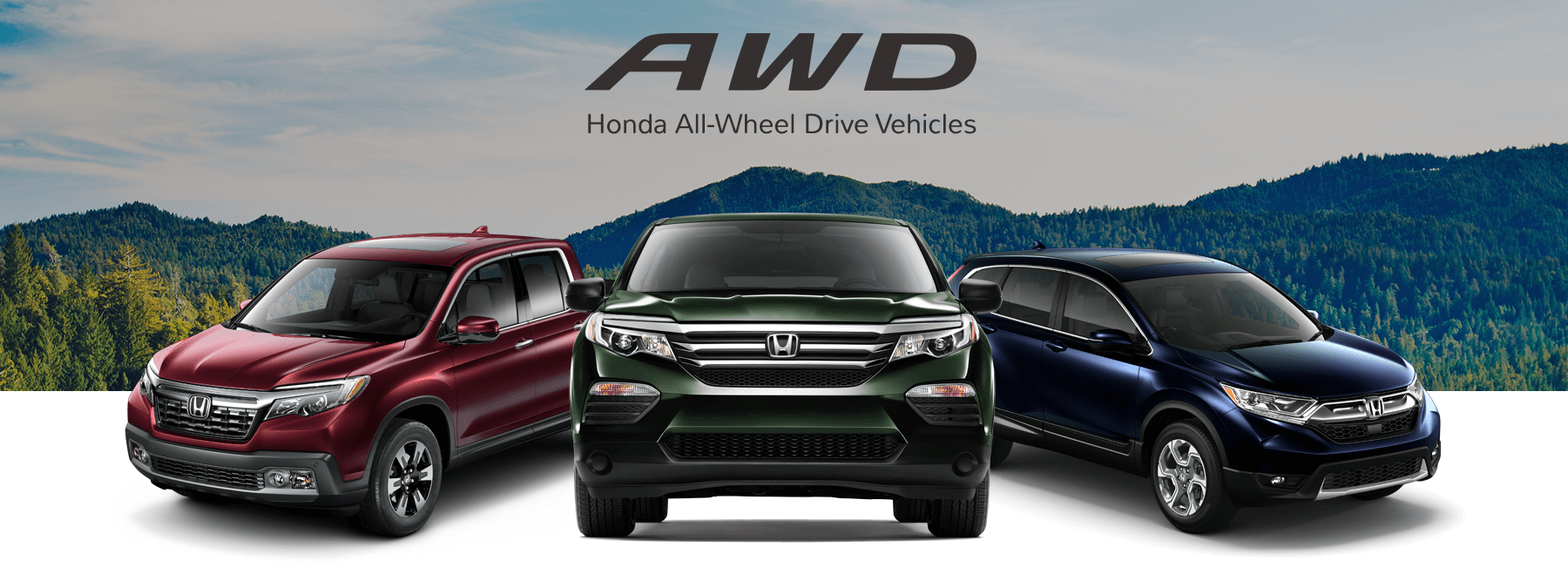 Honda All-Wheel Drive Vehicles