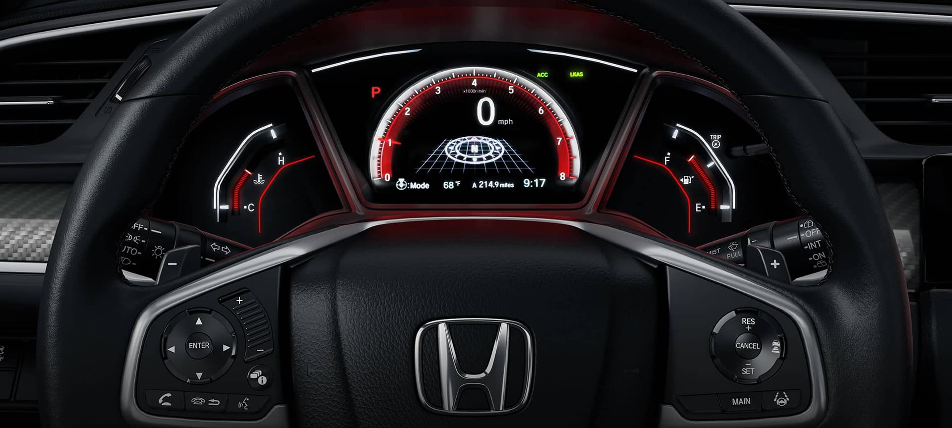 2019 Honda Civic Hatchback Interior Instrument Panel