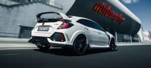 2019 Honda Civic Type R Exterior Rear Angle Passenger Side