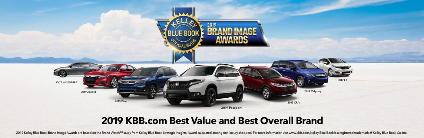 Honda 2019 Kelley Blue Book Brand Image Award Banner