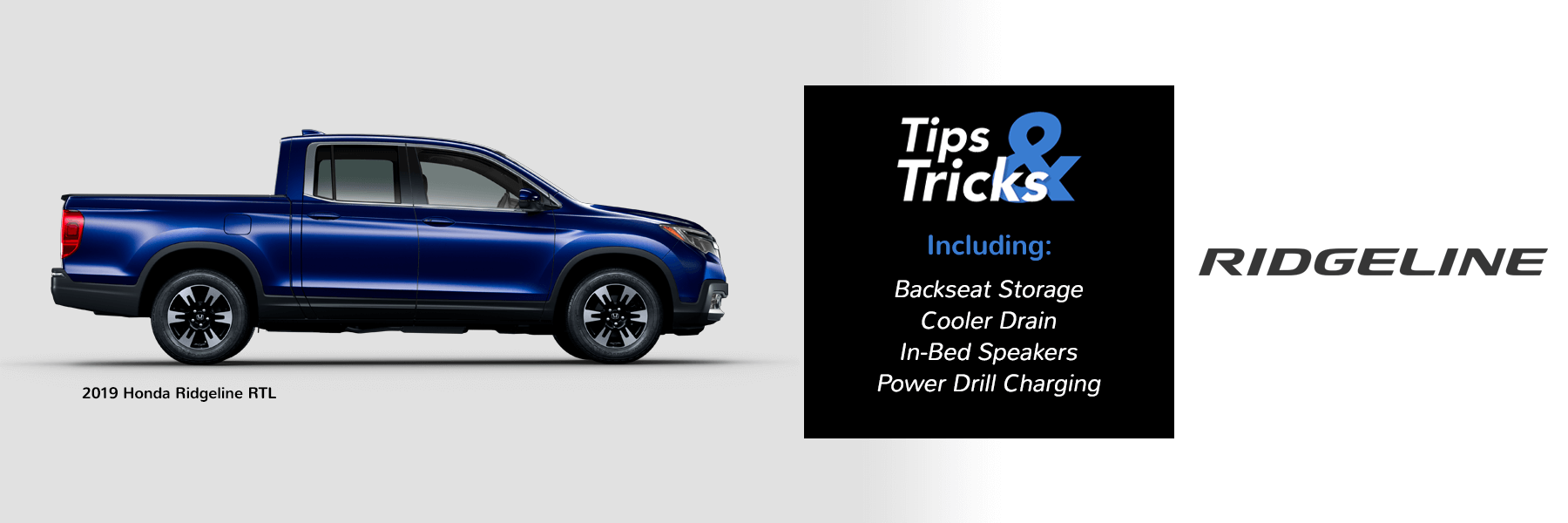 Honda Tips and Tricks 2019 Ridgeline Slider