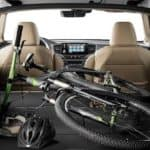 2020 Honda Pilot with full trunk with bike and helmet