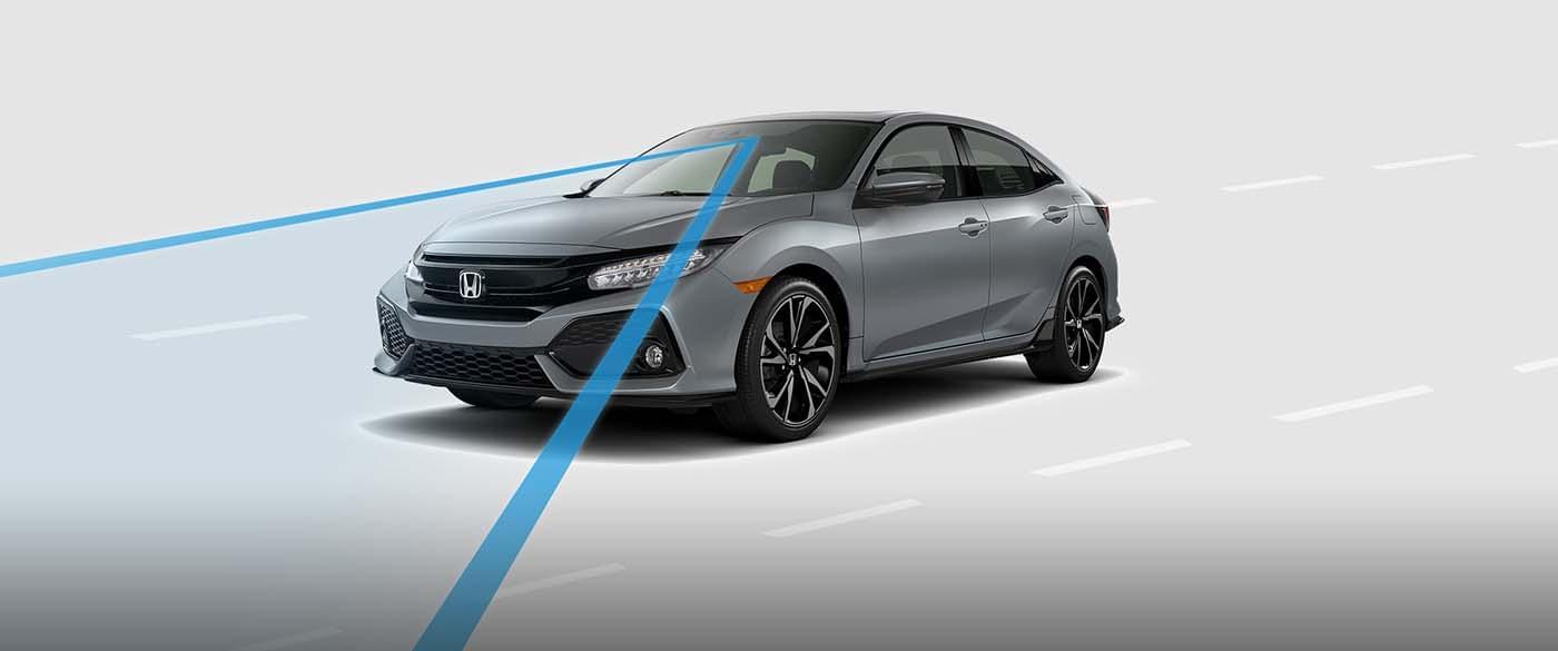 2017 Honda Civic Hatchback Road Departure