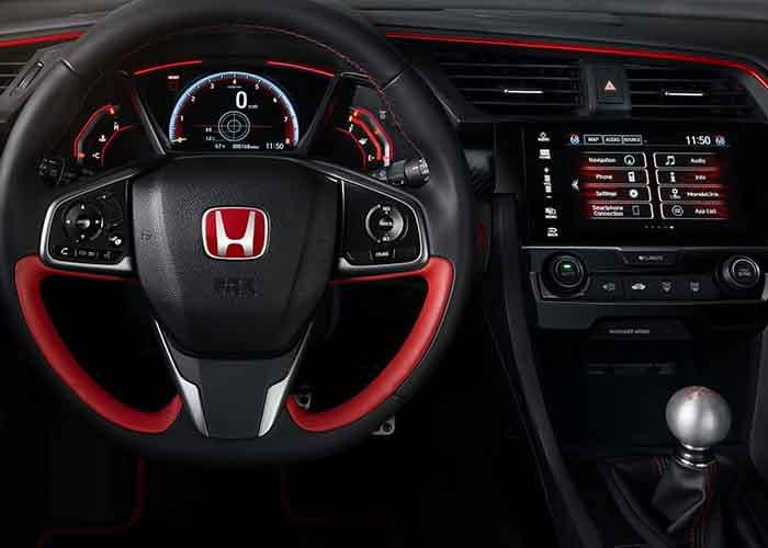 2018 Honda Civic Type R Interior Close up Technology