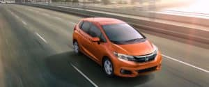 2019 Honda Fit EX-L driving on a highway