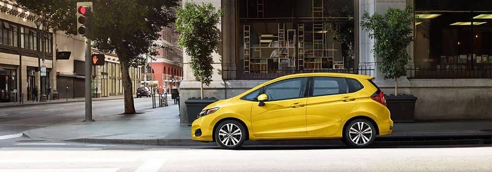 2019 Honda Fit Parked on Side of City Street 100518 copy