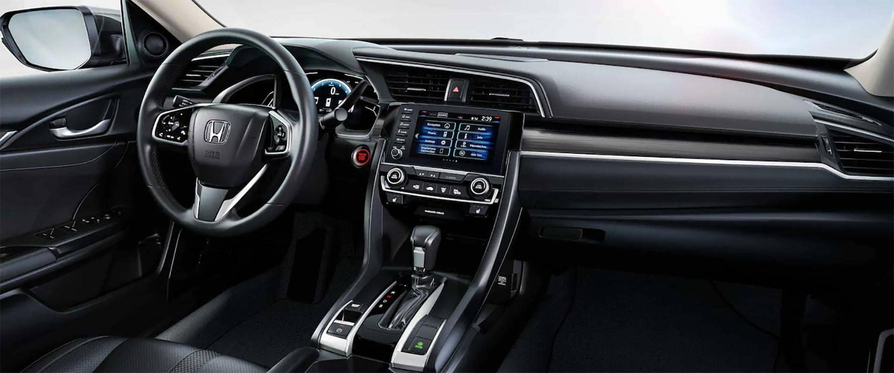 2019 Honda Civic Sedan Interior Front Seating and Dashboard