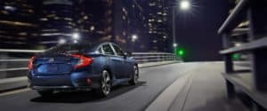 2019 Honda Civic Sedan Driving onto a Highway