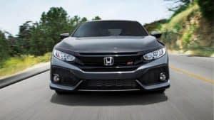 2019 Honda Civic Si Sedan Driving Front End View