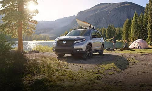 2019 Honda Passport Parked at a Campsite