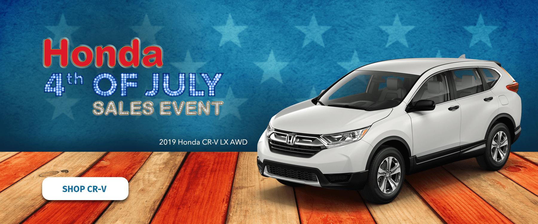 Honda 4th of July Sales Event 2019 CR-V Slider