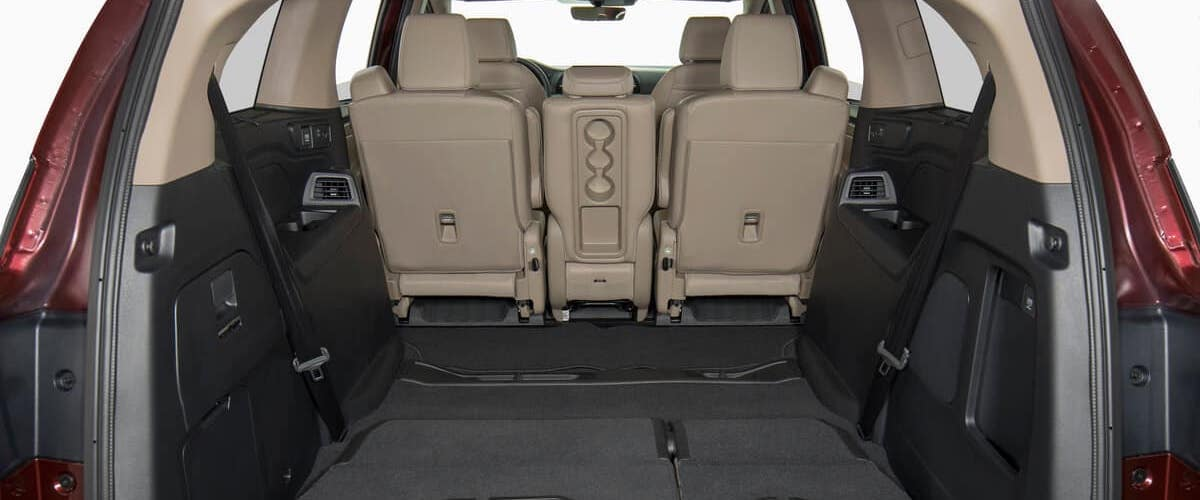 Back seats folded down in 2020 Honda Odyssey to make more cargo space