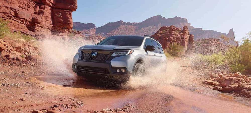 2020 Honda Passport driving off-road in the west