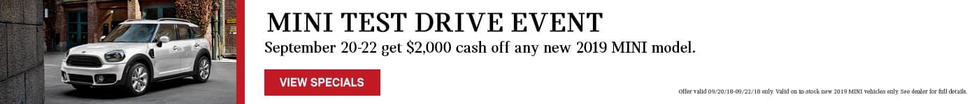 MINI Test Drive Event Sept 20-22