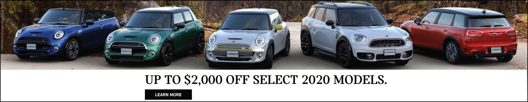 up to $2,000 off select 2020 models.