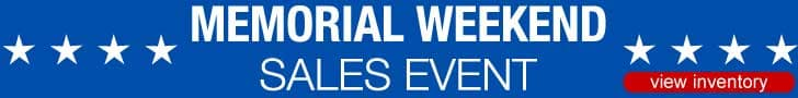 Memorial Weekend Sales Event 2018