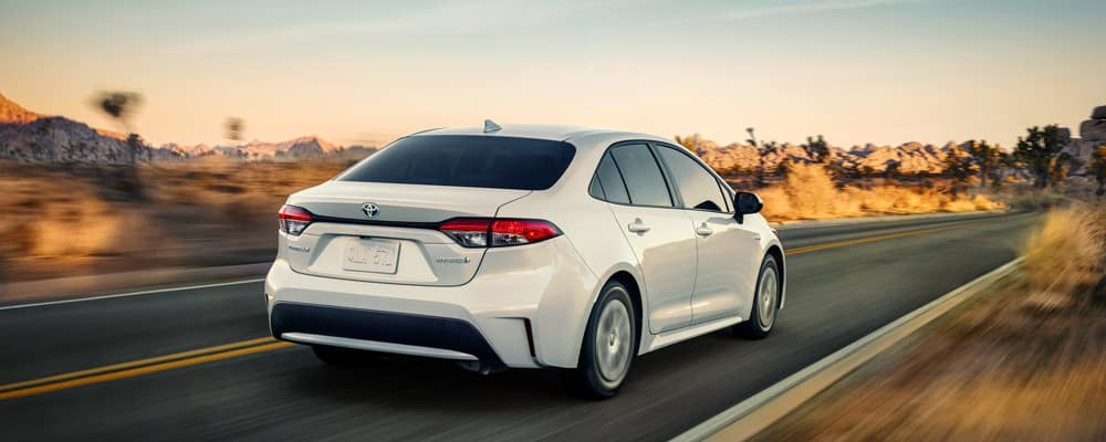 2019 Toyota Corolla Driving in Road Rear View
