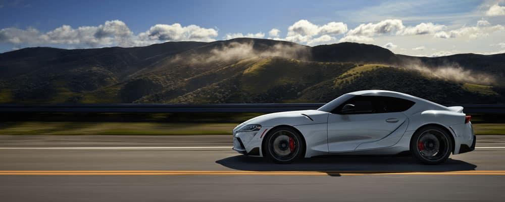 2020 Toyota Supra Driving on Road
