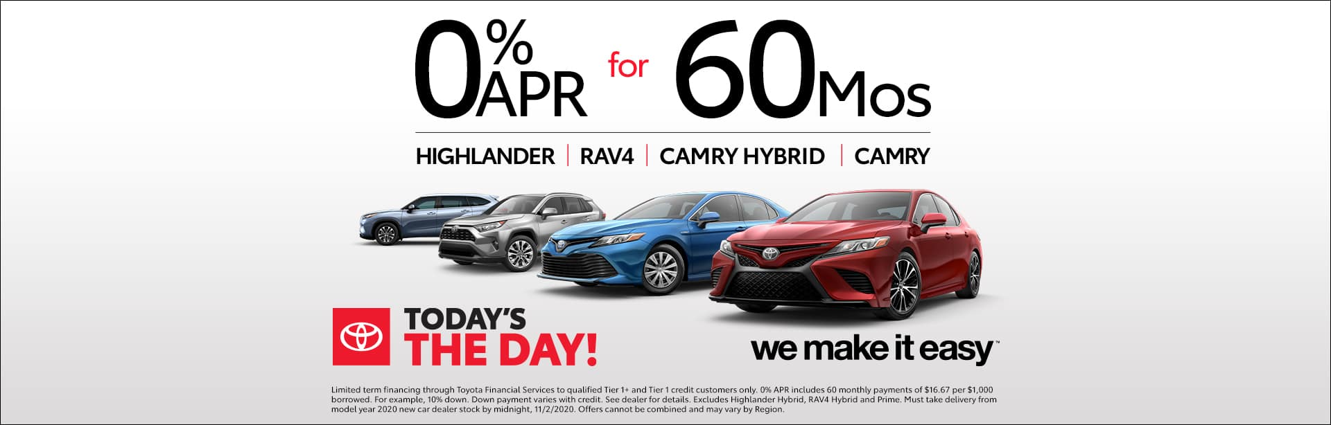 Toyota, We Make It Easy, Sales Event