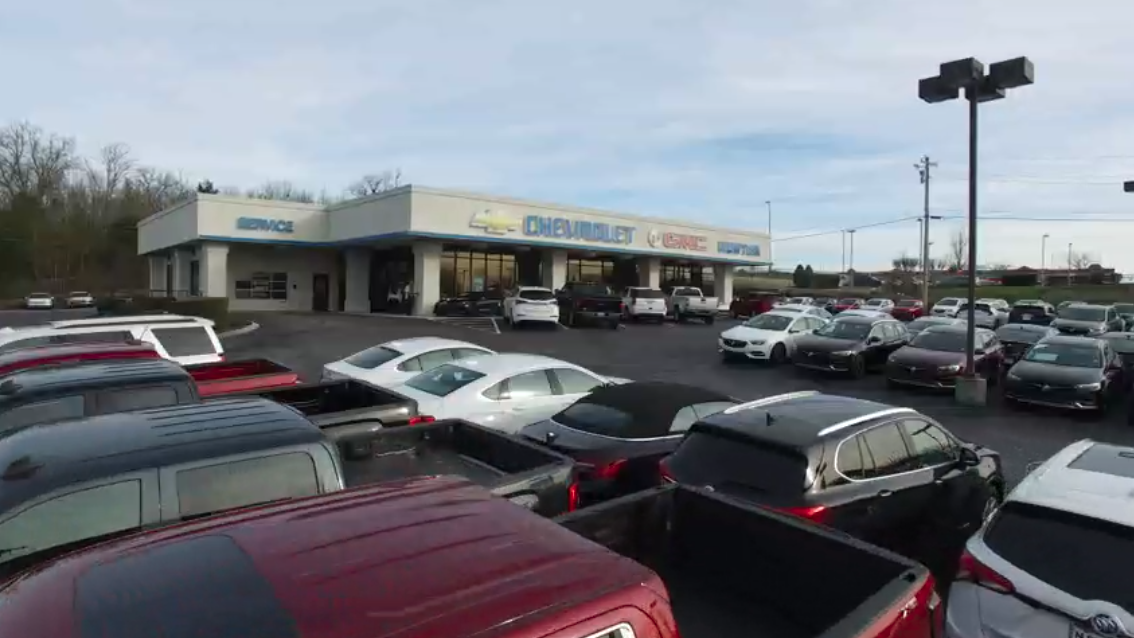 The front of the Newton Chevrolet Buick GMC dealership