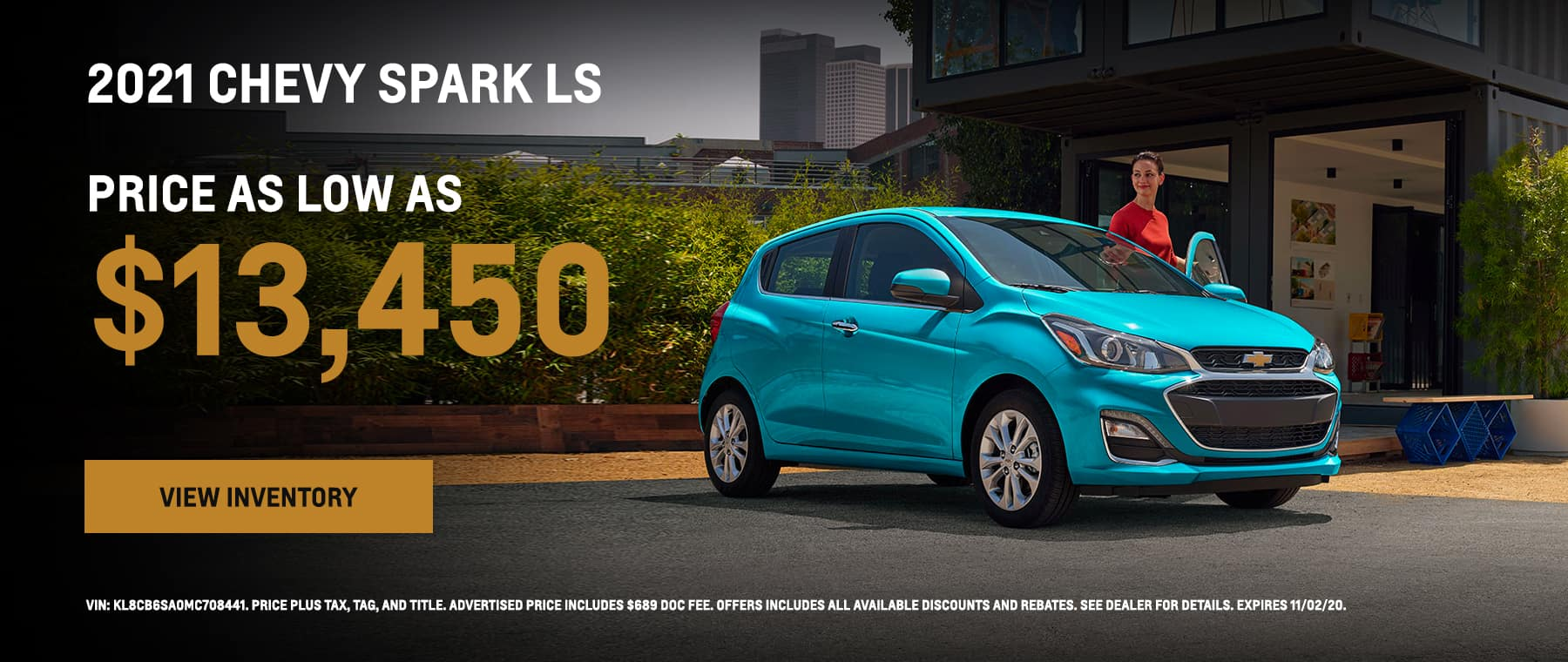 2021 Chevy Spark LS as low as $13,450