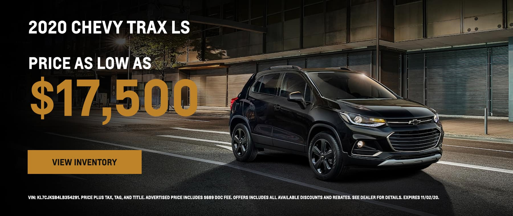 2020 Chevy Trax priced as low as $17,500