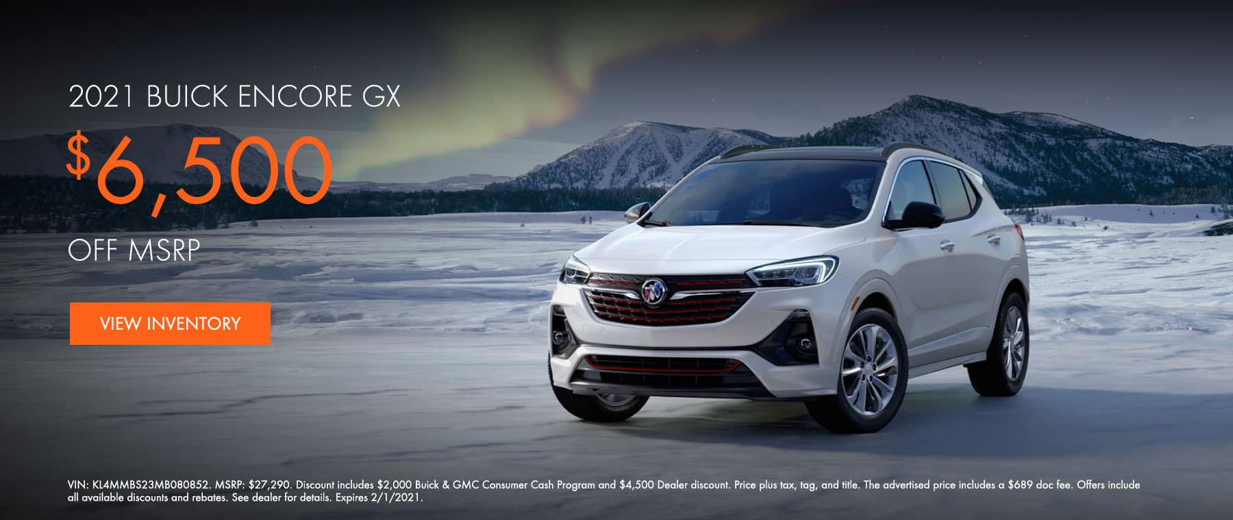 2021 Buick Encore GX $6,500 off MSRP
