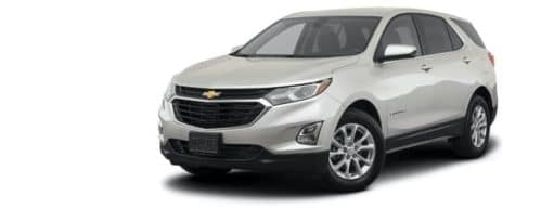 A silver 2021 Chevy Equinox LT is angled left.