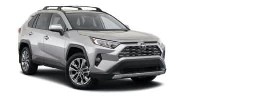 A silver 2021 Toyota RAV4 Limited is angled right.