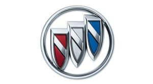 The Buick logo is shown against a white background.