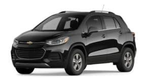 A black 2022 Chevy Trax is shown angled left.