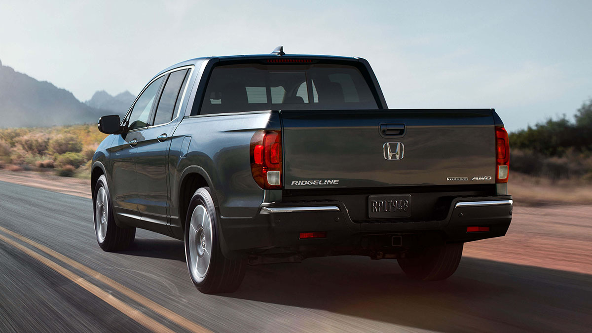 2017 Honda Ridgeline on highway