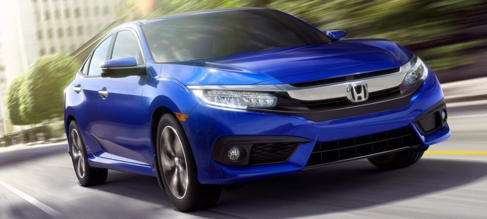 2017 Honda Civic Sedan blue exterior