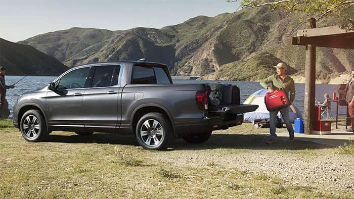 2019 Honda Ridgeline Parked at a Lake