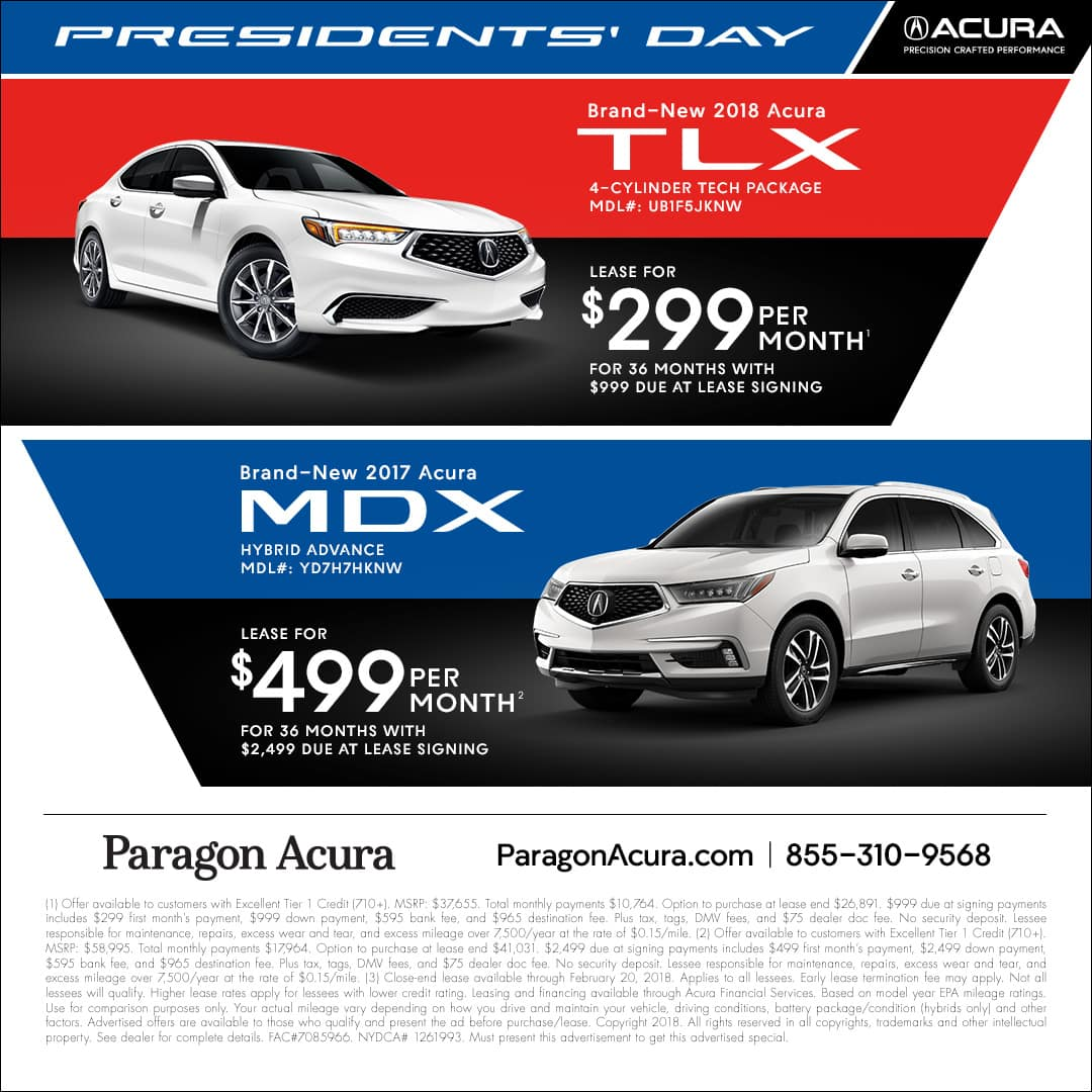 Leasing Acura: Presidents' Day
