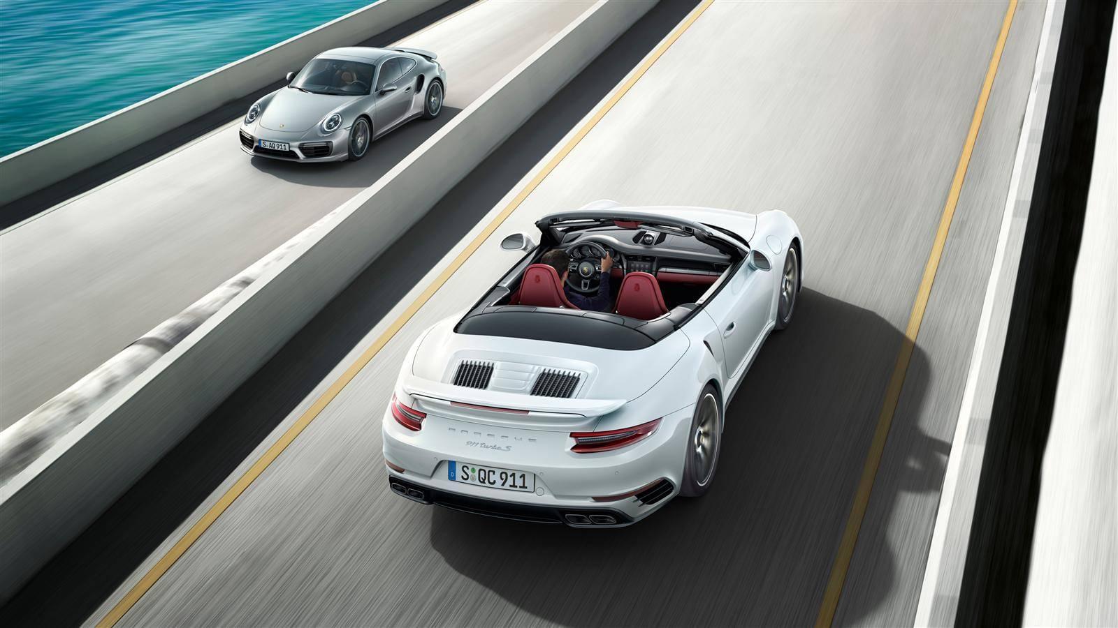 Porsche Turbo S Overhead