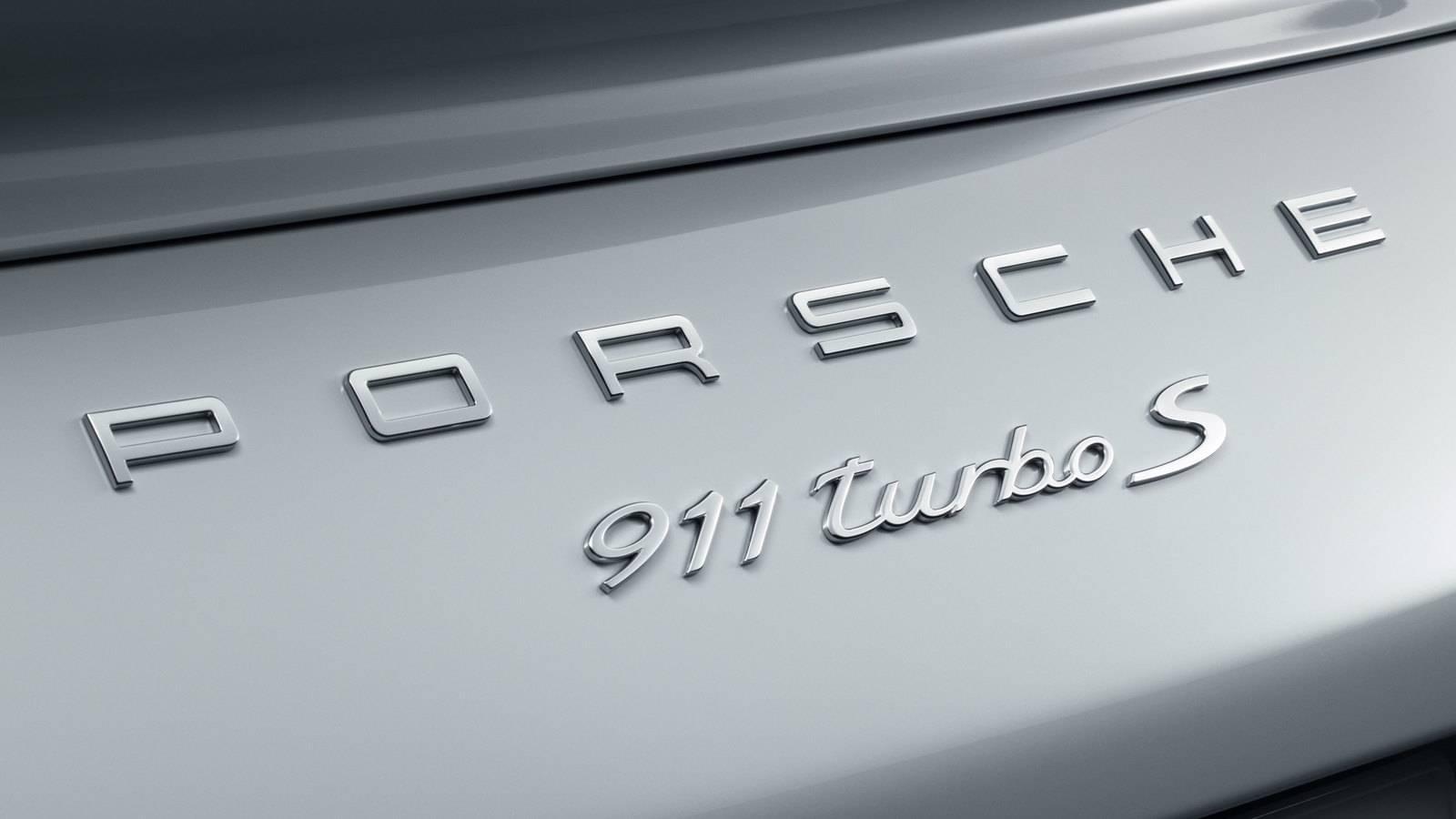 Porsche Turbo S badge
