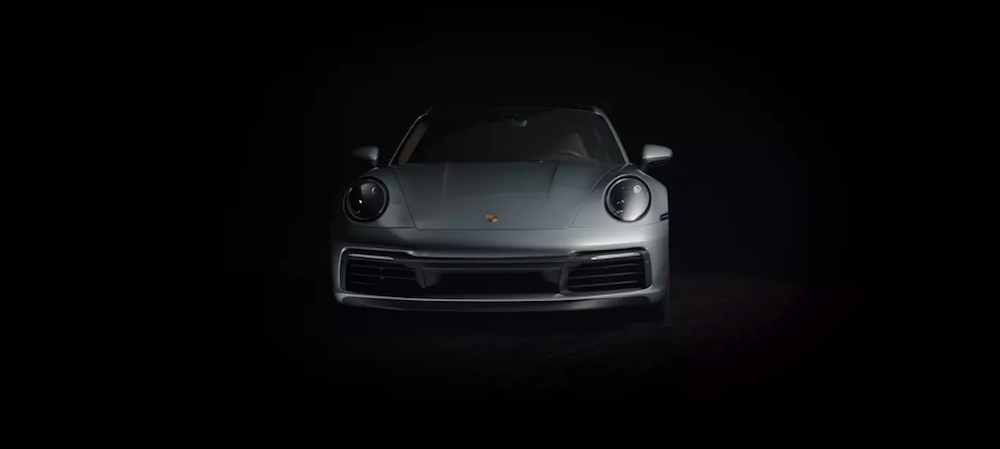 Porsche 911 Carrera S revealed in dim lighting