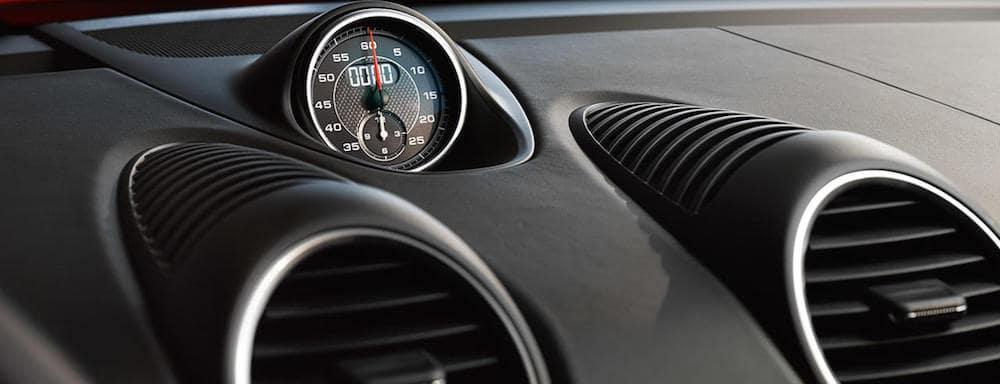 Porsche Sport Chrono dial in dash of car
