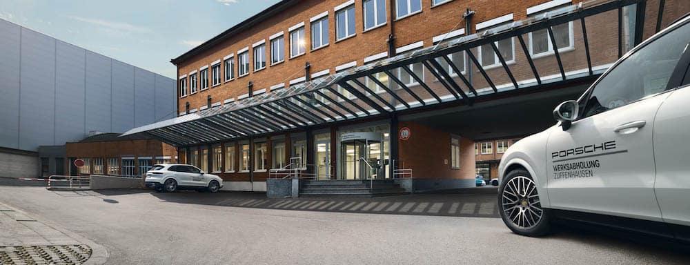 Exterior of Porsche Zuffenhausen factory