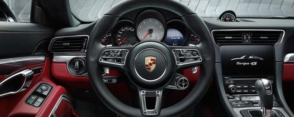Porsche steering wheel inside 911 Carrera