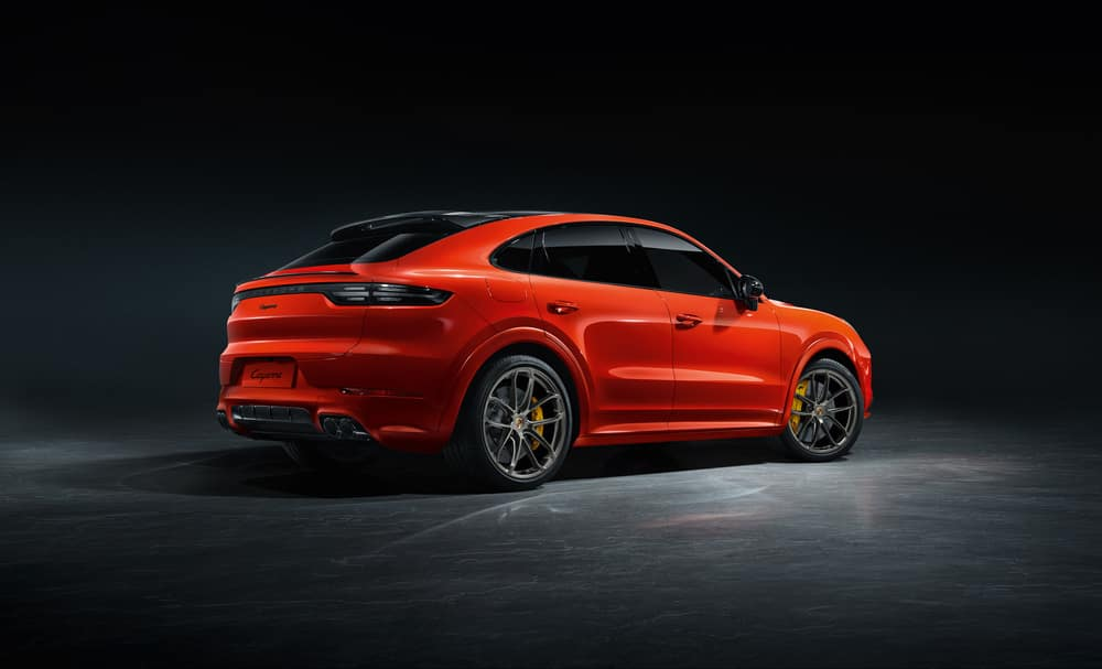 2021 Porsche Cayenne Coupe in red