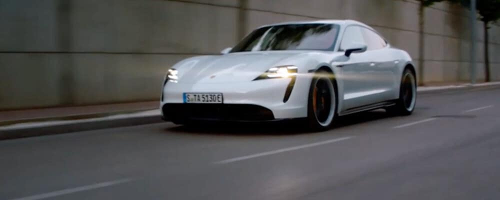 2020 Porsche Taycan driving