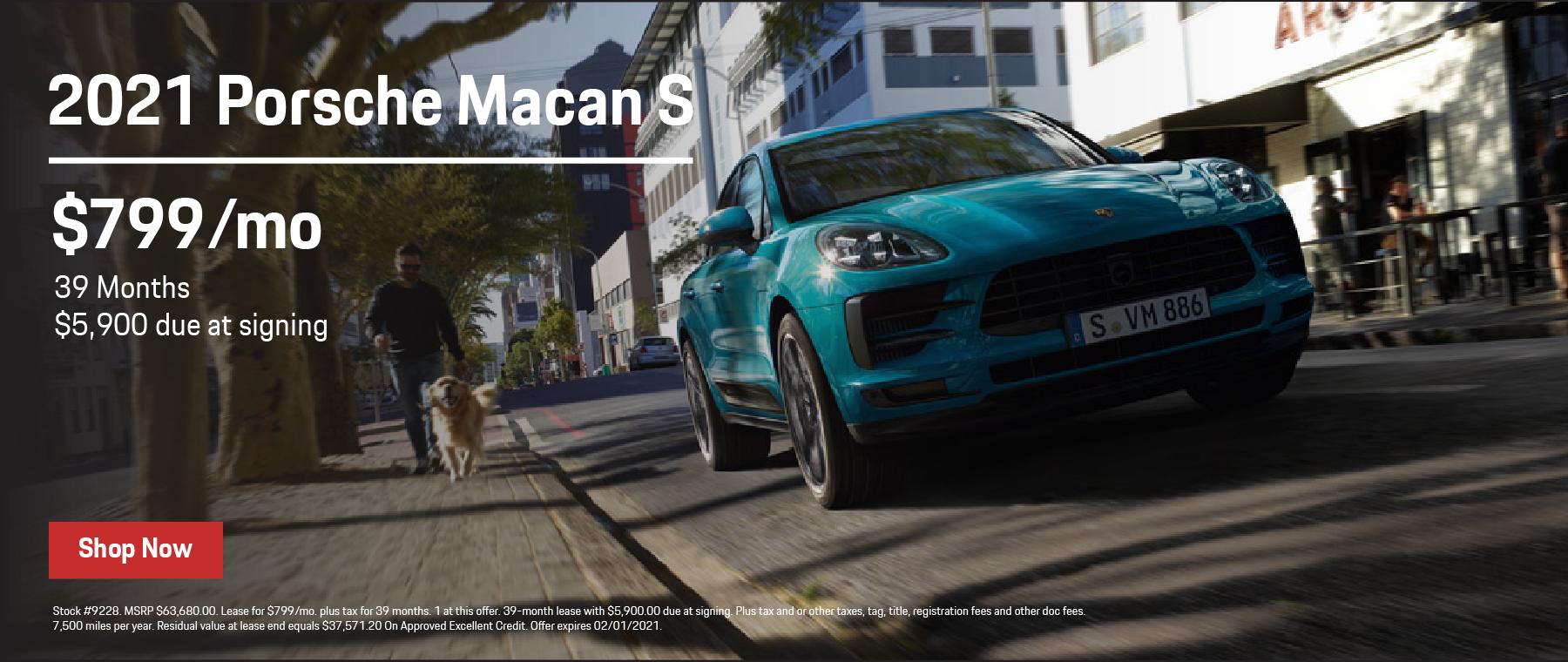 2021 Macan S $799