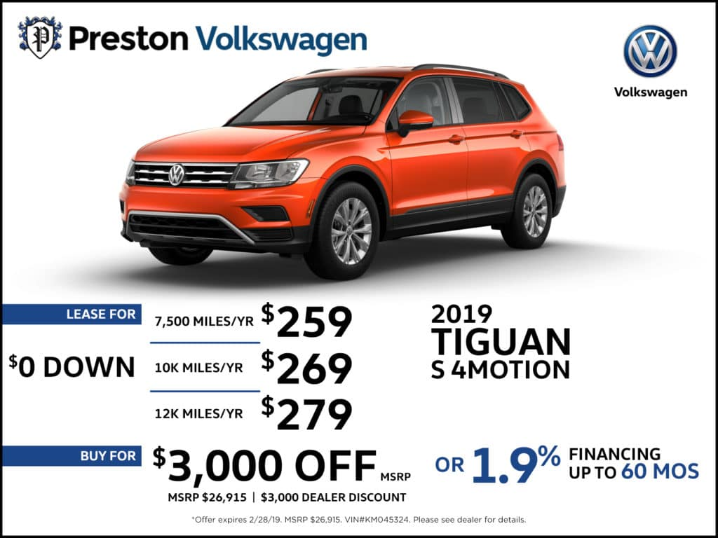 2019 VW TIGUAN S 4MOTION