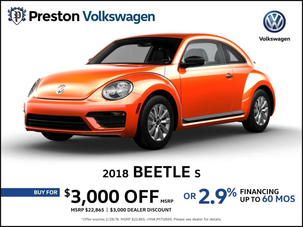 2018 VW Beetle S