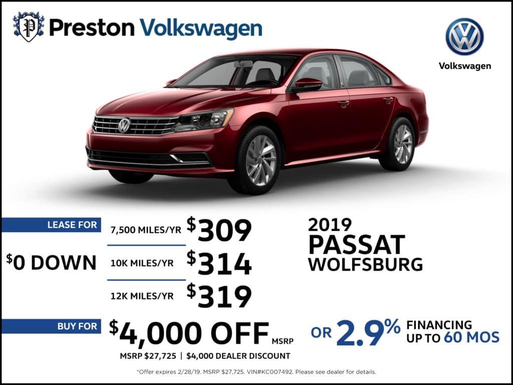 2019 VW Passat Wolfsburg