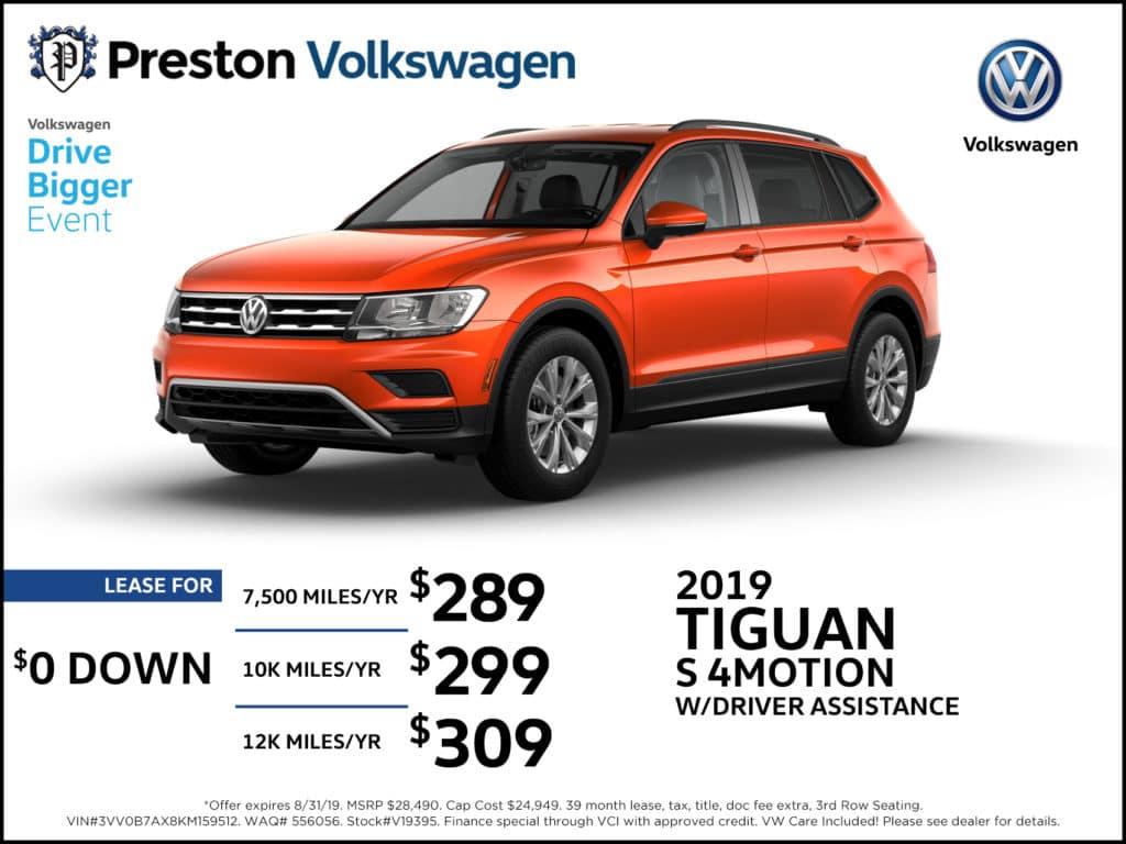 2019 Tiguan S 4Motion