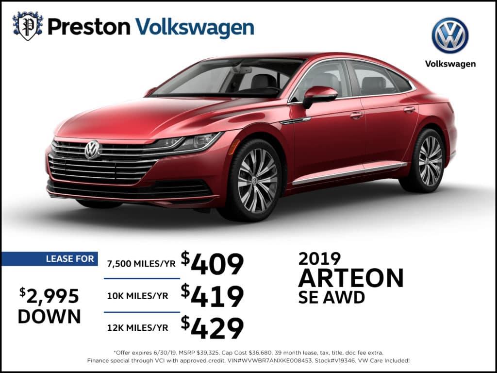 New 2019 Volkswagen Arteon 2.0T SE AWD